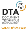 la baie coulissante alu MDF fait l'objet d'un avis technique et dispose d'un DTA document technique d'application qui garantit sa durabilite et la performance de fabrication des menuiseries aluminium